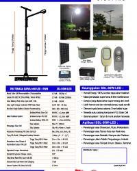 PJU Tenaga Surya 50 Watt LED – PWM
