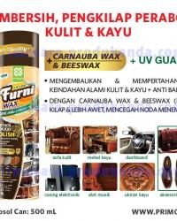 Pembersih Pengilap Kulit & Kayu PRIMO FURNI WAX 500ml