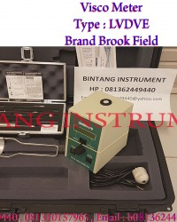 DIGITAL VISCO METER BRAND : BROOKFIELD TYPE : LVDVE series. Negara Asal : USA