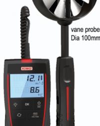 KIMO INSTRUMENTS || VANE PROBE THERMOMETER-ANEMOMETER (TYPE: LV-110)