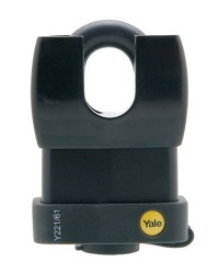 Yale Padlock Y221-61-130 Classic Series Weather Resistant Laminated Steel Closed Shackle 61mm