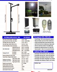 PJU Tenaga Surya 75 Watt LED – PWM