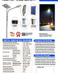 Paket PJU Tenaga Surya 120W LED