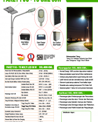 PJU Tenaga Surya Multi LED 80 Watt