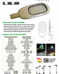Lampu Jalan Multi LED 80 Watt ONE LED