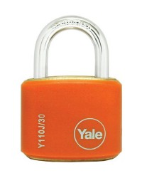 Yale Padlcok Y110J-30-117-2 Orange Classic Series Outdoor Color Brass 34mm with Multi-pack