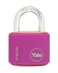 Yale Padlcok Y110J-30-117-2 Pink Classic Series Outdoor Color Brass 34mm with Multi-pack