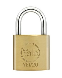 Yale Padlock YE-120 Essential Series Indoor Brass Standard Shackle 20mm
