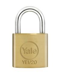Yale Padlock YE-120 Essential Series Indoor Brass Standard Shackle 20mm