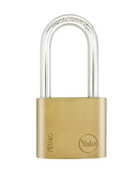 Yale Padlock YE-140 Essential Series Indoor Brass Long Shackle 40mm