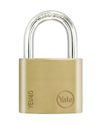 Yale Padlock YE-140 Essential Series Indoor Brass Standard Shackle 40mm