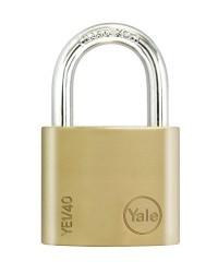 Yale Padlock YE-140 Essential Series Indoor Brass Standard Shackle 40mm
