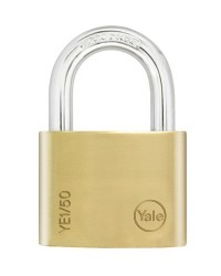 Yale Padlock YE-150 Essential Series Indoor Brass Standard Shackle 50mm