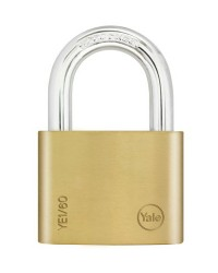 Yale Padlock YE-160 Essential Series Indoor Brass Long Shackle 50mm