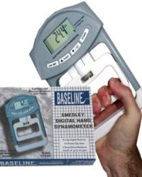 DIGITAL HAND DYNAMOMETER - BASELINE SMEDLEY SPRING DYNAMOMETER - 200 Lbor90 Kg