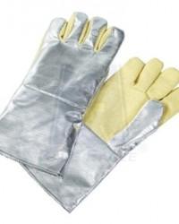 aluminized Leather Gloves blue eagle, Sarung tangan berbahan Alumunium