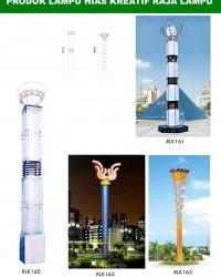 Tiang Lampu Taman Kreatif 46