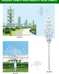 Tiang Lampu Taman Kreatif 72