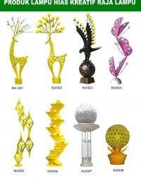 Tiang Lampu Taman Kreatif 81