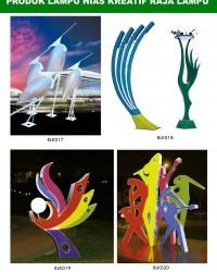 Tiang Lampu Taman Kreatif 83