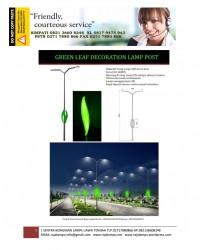 Dekoratif Tiang Lampu PJU Green Leaf