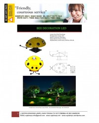 Lampu Hias Dekorasi Taman Motif Kumbang
