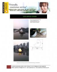 Lampu Hias Dekorasi Kursi Taman Bentuk Apel