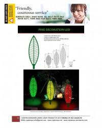 Lampu Hias Dekorasi Taman Model Daun