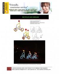 Lampu Hias Dekorasi Taman Model Sepeda