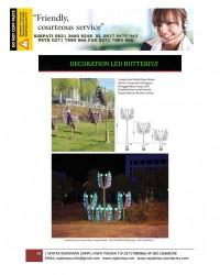 Lampu Hias Dekorasi Taman Model Kupu-Kup