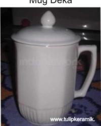 Mug Keramik + Tutup Mug
