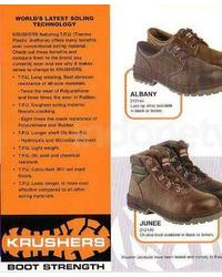 Safety shoes krusher