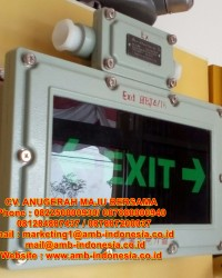 Lampu Led Emergency Exit Lamp Explosion Proof 3W QINSUN BZD310 LED