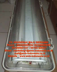 Lampu TL Explosion Proof GRP Polycarbonate 1x18W 1x36W 2x18W 2x36W Warom BAY51-Q Flourescent Lamp Ja