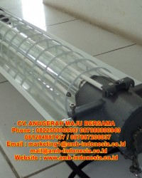 Lampu TL Led Explosion Proof 1x18w 1x36w 1x58w 2x18w 2x36w 2x58w QINSUN BLD140 LED Flourescent Lamp