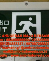 Lampu Led Emergency Exit Lamp Explosion HRLM BYY  Exit Signal Lighting Jakarta