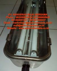 Lampu TL Explosion Proof Stainless Steel 1x18W 1x36W 2x18W 2x36W Warom BJY Flourescent Lamp Jakarta