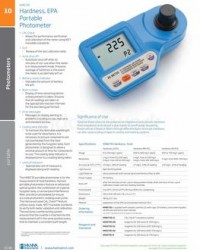 HARDNESS, EPA PORTABLE PHOTOMETER