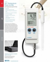 PH / TEMPERATURE METER FOR MILK WITH APPLICATION SPECIC PROBE