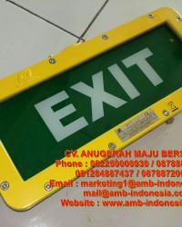 Lampu Led Emergency Exit Lamp Explosion Proof Warom BAYD Exit Signal Lighting Jakarta Indonesia