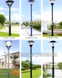 TIANG LAMPU TAMAN MODERN MINIMALIS G-16501 – G-16506