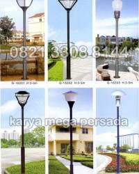 TIANG LAMPU TAMAN MODERN MINIMALIS G-16201 – G-16206