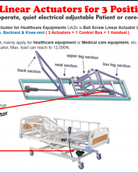 ACTUATOR 3 POSITION HOSPITAL BED