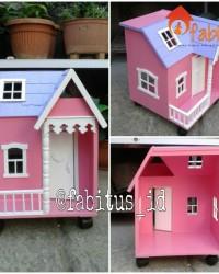 Mainan Anak Rumah Barbie Mini Dollhouse