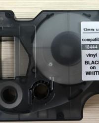 INDOOR/OUTDOOR VINYL LABEL TAPE CARTRIDGE BLACK/WHITE DYMO 18444