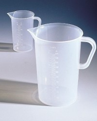 Polypropylene graduated beaker with handle, 1000 mL