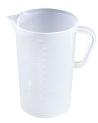 Polypropylene graduated beaker with handle, 5000 mL