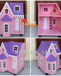 Mainan Anak Rumah Boneka Barbie Villa Kecil Dollhouse