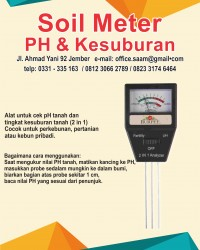SAAM SOIL METER/PH METER TANAH 2IN1 KADAR PH + KESUBURAN