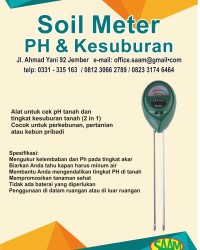 SAAM SOIL METER /PH TANAH 2IN1 ALAT UKUR KADAR PH + KELEMBABAN
